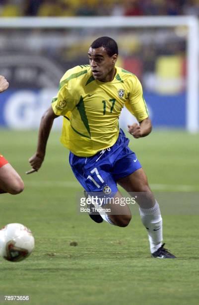 Football 2002 FIFA World Cup Finals Kobe Japan 17th June 2002 Brazil 2 v Belgium 0 Denilson of Brazil