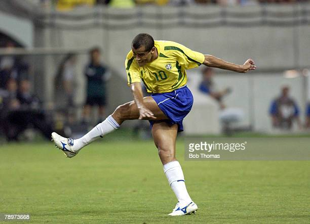 Football 2002 FIFA World Cup Finals Kobe Japan 17th June 2002 Brazil 2 v Belgium 0 Rivaldo of Brazil