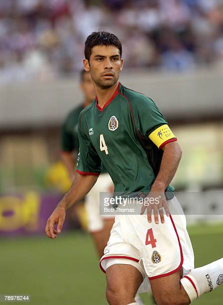 Football 2002 FIFA World Cup Finals Niigata Japan 3rd June 2002 Mexico 1 v Croatia 0 Rafael Marquez Mexico