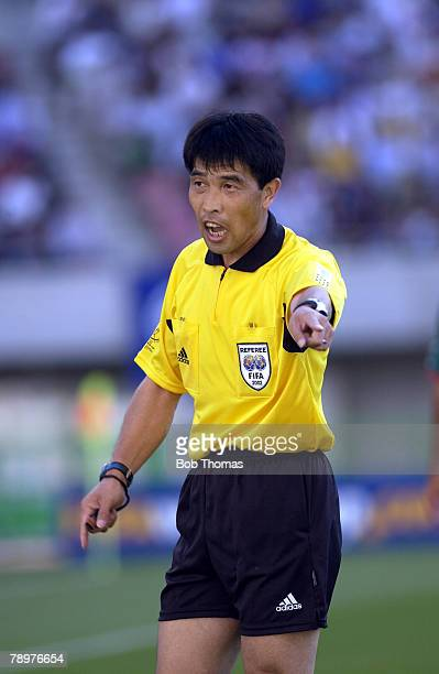 Football 2002 FIFA World Cup Finals Niigata Japan 3rd June 2002 Mexico 1 v Croatia 0 Jun Lu China Referee