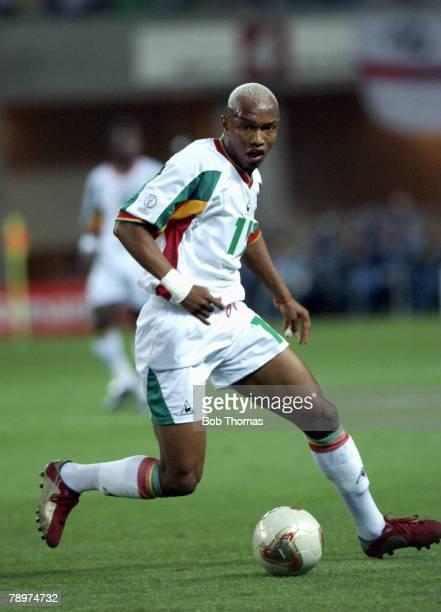 Football 2002 FIFA World Cup Finals Osaka Japan 22nd June 2002 Senegal 0 v Turkey 1 Senegal's Hadji El Diouf