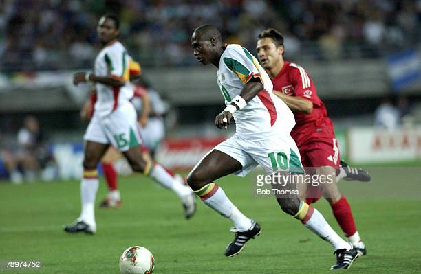Football 2002 FIFA World Cup Finals Osaka Japan 22nd June 2002 Senegal 0 v Turkey 1 Khalilou Fadiga Senegal