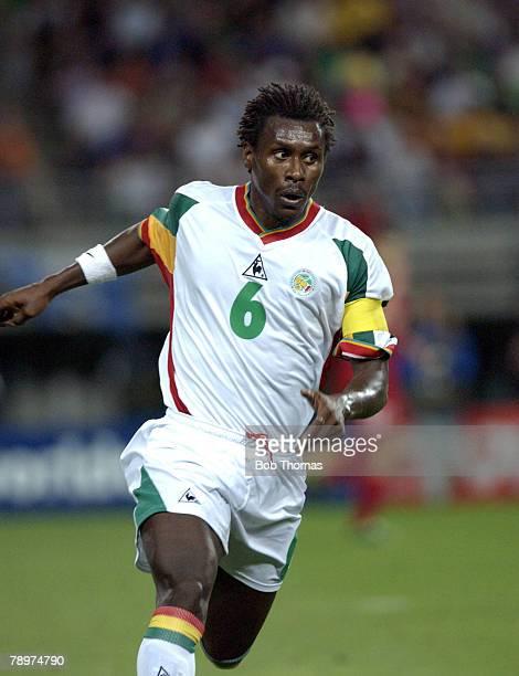 Football 2002 FIFA World Cup Finals Osaka Japan 22nd June 2002 Senegal 0 v Turkey 1 Aliou Cisse Senegal