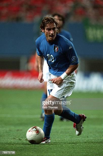 Football 2002 FIFA World Cup Finals Second Phase Daejeon South Korea 18th June 2002 South Korea 2 v Italy 1 Italy's Francesco TottiCredit...