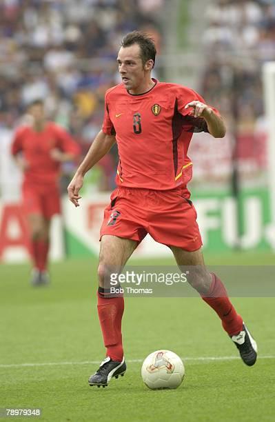Football 2002 FIFA World Cup Finals Shizuoka Japan 14th June 2002 Belgium 3 v Russia 2 Belgium's Bart Goor