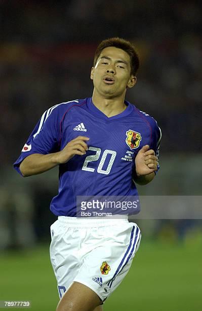 Football 2002 FIFA World Cup Finals Yokohama Japan 9th June 2002 Japan 1 v Russia 0 Tomokazu Myojin Japan