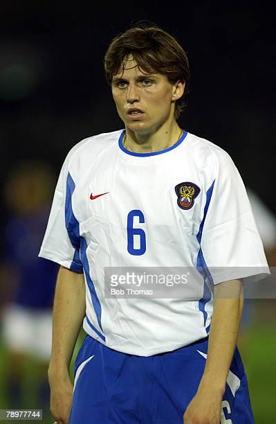 Football 2002 FIFA World Cup Finals Yokohama Japan 9th June 2002 Japan 1 v Russia 0 Igor Semshov Russia