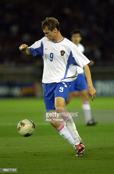 Football 2002 FIFA World Cup Finals Yokohama Japan 9th June 2002 Japan 1 v Russia 0 Egor Titov Russia