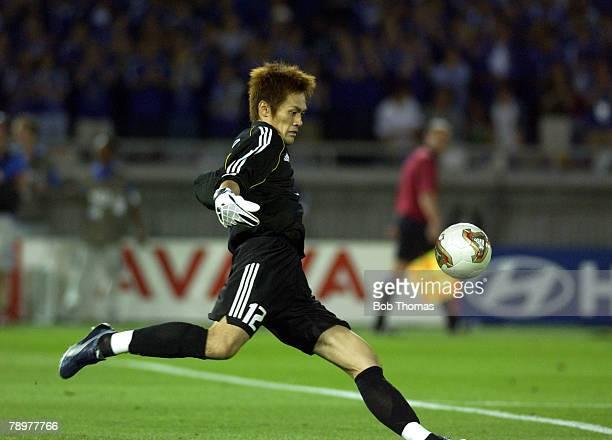 Football 2002 FIFA World Cup Finals Yokohama Japan 9th June 2002 Japan 1 v Russia 0 Seigo Narazaki Japan