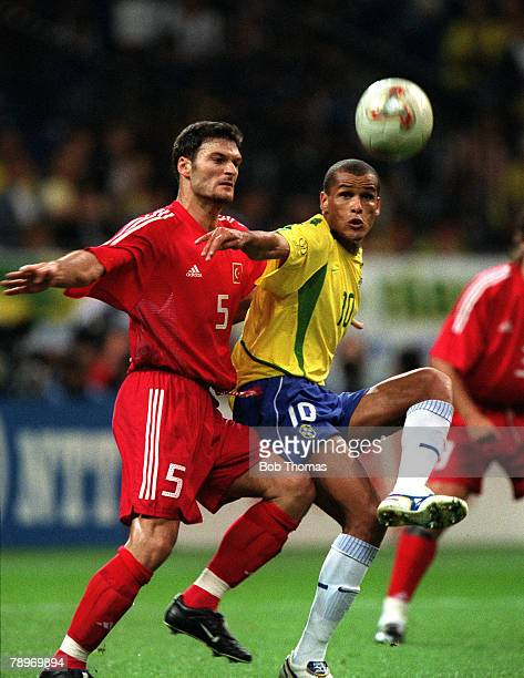 football 2002 fifa world cup semi final saitama japan 26th june 2002 brazil 1 v turkey