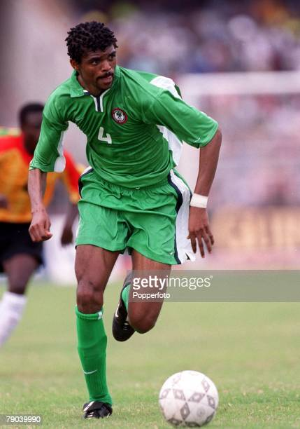 Football, 2002 World Cup Qualifier, Accra, African Second Round, Group B, 11th March 2001, Ghana 0 v Nigeria 0, Nigeria's Nwankwo Kanu on the ball