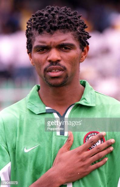Football, 2002 World Cup Qualifier, Accra, African Second Round, Group B, 11th March 2001, Ghana 0 v Nigeria 0, Portrait of Nigeria's Nwankwo Kanu