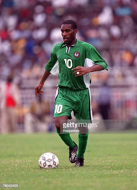 Football 2002 World Cup Qualifier Accra African Second Round Group B 11th March 2001 Ghana 0 v Nigeria 0 Nigeria's Augustine Okocha on the ball