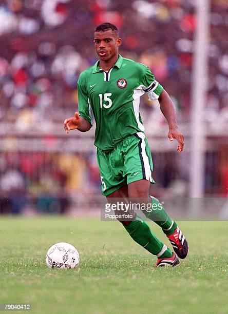 Football 2002 World Cup Qualifier Accra African Second Round Group B 11th March 2001 Ghana 0 v Nigeria 0 Nigeria's Sunday Oliseh on the ball