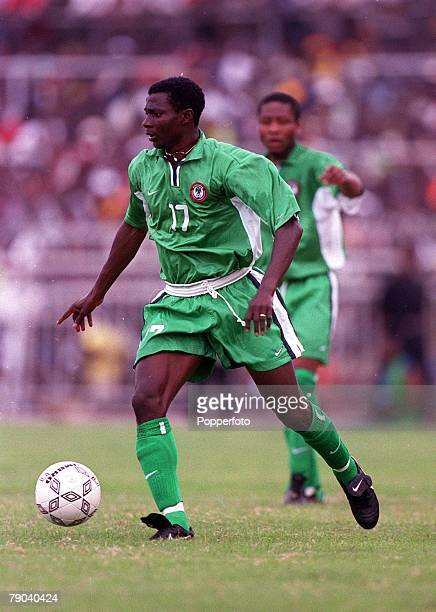 Football 2002 World Cup Qualifier Accra African Second Round Group B 11th March 2001 Ghana 0 v Nigeria 0 Nigeria's Julius Agahahowa on the ball