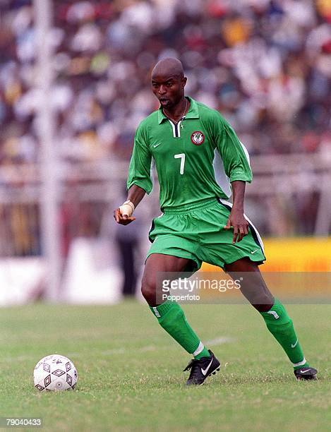Football 2002 World Cup Qualifier Accra African Second Round Group B 11th March 2001 Ghana 0 v Nigeria 0 Nigeria's Finidi George on the ball