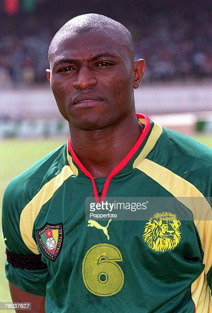 Football 2002 World Cup Qualifier African Second Round Group A Yaounde 25th February 2001 Cameroon 1 v Zambia 0 Cameroons Pierre Njanka