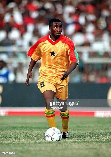 Football 2002 World Cup Qualifier African Second Round Group B 28th January 2001 Accra Ghana Ghana 1 v Liberia 3 Ghanas Mark Edusei