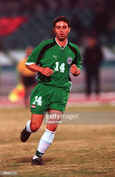 Football 2002 World Cup Qualifier African Second Round Group C 28th January 2001 Cairo Egypt Egypt 0 v Morocco 0 Egypts Hazem Emam