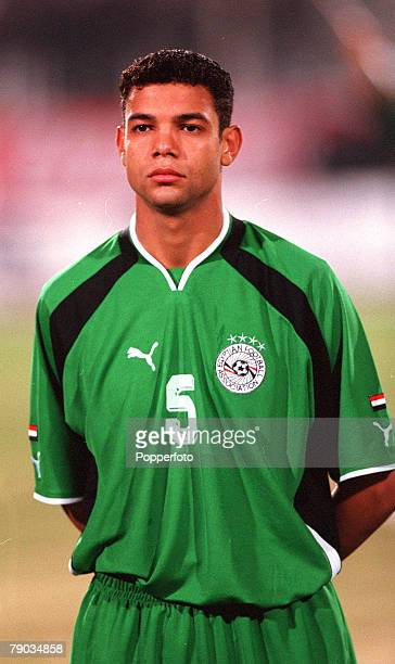 Football 2002 World Cup Qualifier African Second Round Group C 28th January 2001 Cairo Egypt Egypt 0 v Morocco 0 Egypts A Zaher Elsaka