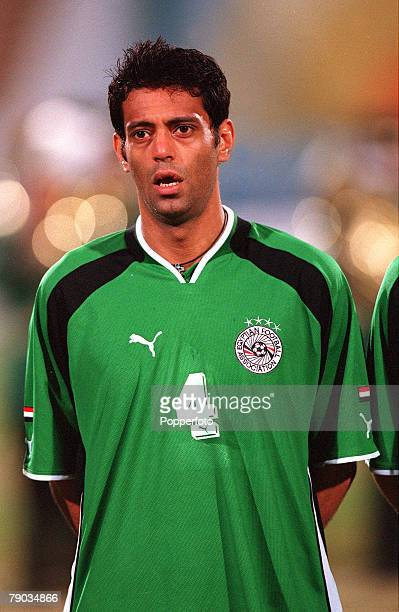 Football 2002 World Cup Qualifier African Second Round Group C 28th January 2001 Cairo Egypt Egypt 0 v Morocco 0 Egypts Hany Ramzy