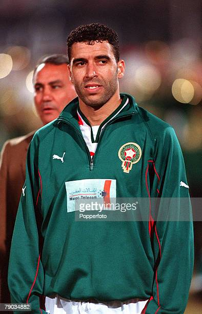 Football 2002 World Cup Qualifier African Second Round Group C 28th January 2001 Cairo Egypt Egypt 0 v Morocco 0 Moroccos Noureddine Naybet