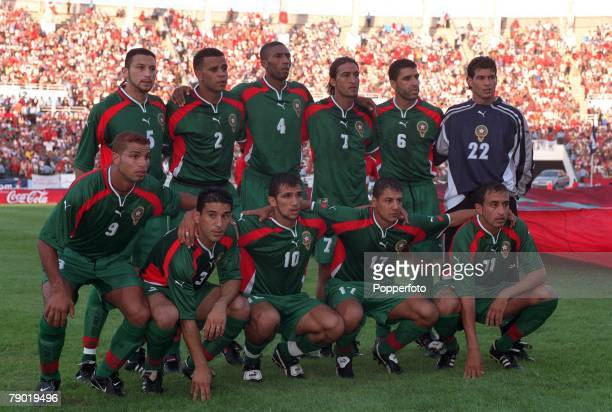 Football 2002 World Cup Qualifier African Second Round Group C 30th June 2001 Rabat Morocco 1 v Egypt 0 The Morocco team pose together for a group...