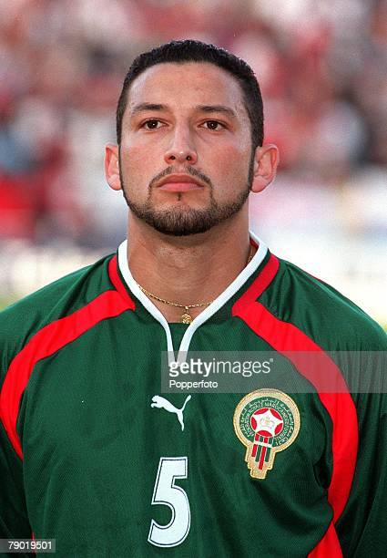 Football 2002 World Cup Qualifier African Second Round Group C 30th June 2001 Rabat Morocco 1 v Egypt 0 Morocco's Youssef Rossi