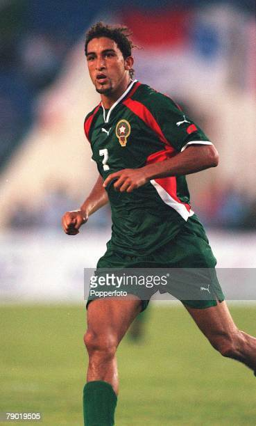 Football 2002 World Cup Qualifier African Second Round Group C 30th June 2001 Rabat Morocco 1 v Egypt 0 Morocco's Moustafa El Hadji