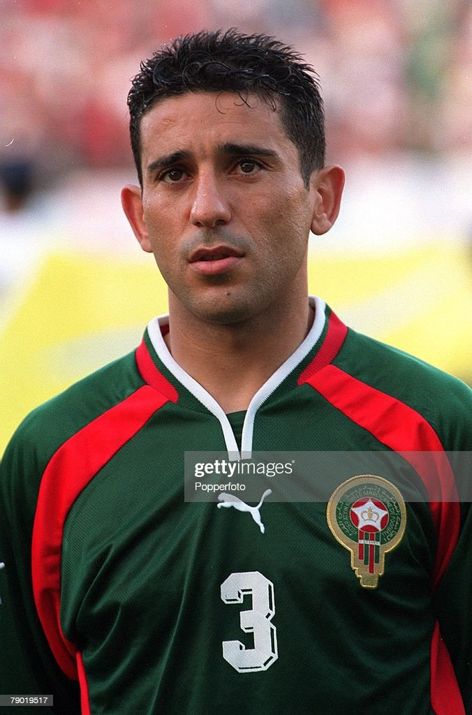 Football. 2002 World Cup Qualifier. African Second Round, Group C. 30th June 2001. Rabat. Morocco 1 v Egypt 0. Morocco's Abdelkrim El Hadrioui. : News Photo