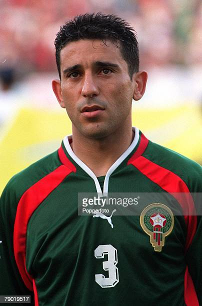 Football 2002 World Cup Qualifier African Second Round Group C 30th June 2001 Rabat Morocco 1 v Egypt 0 Morocco's Abdelkrim El Hadrioui