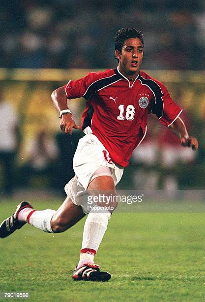 Football 2002 World Cup Qualifier African Second Round Group C 30th June 2001 Rabat Morocco 1 v Egypt 0 Egypt's Ahmed Hossam
