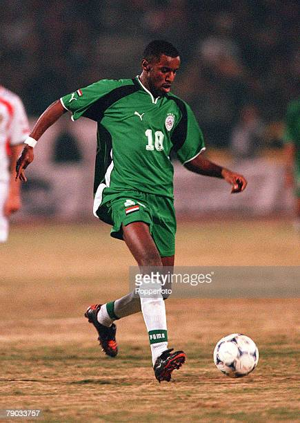 Football 2002 World Cup Qualifier African Second Round Group C Cairo 28th January 2001 Egypt 0 v Morocco 0 Egypt's Abdel Satar Sabry on the ball