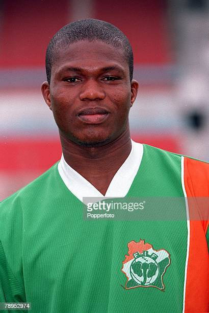 Football 2002 World Cup Qualifier African Second Round Group D 20th May 2001 Tunis Tunisia 1 v Cote d'Ivoire 1 Blaise Kouassi of the Cote d'Ivoire