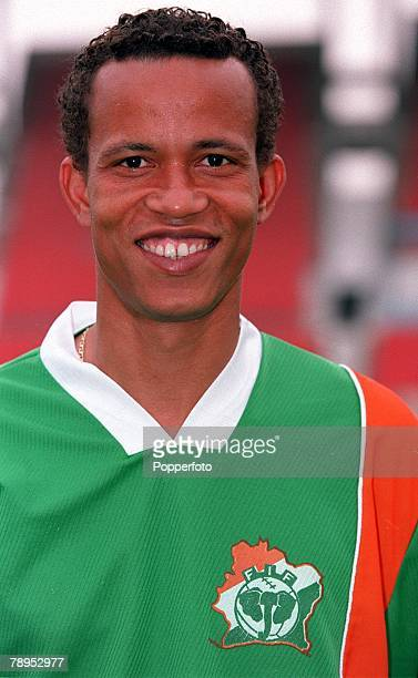 Football 2002 World Cup Qualifier African Second Round Group D 20th May 2001 Tunis Tunisia 1 v Cote d'Ivoire 1 Didier Anban of the Cote d'Ivoire
