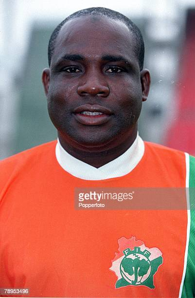 Football 2002 World Cup Qualifier African Second Round Group D 20th May 2001 Tunis Tunisia 1 v Cote d'Ivoire 1 A portrait of Bamba Lama the Cote...