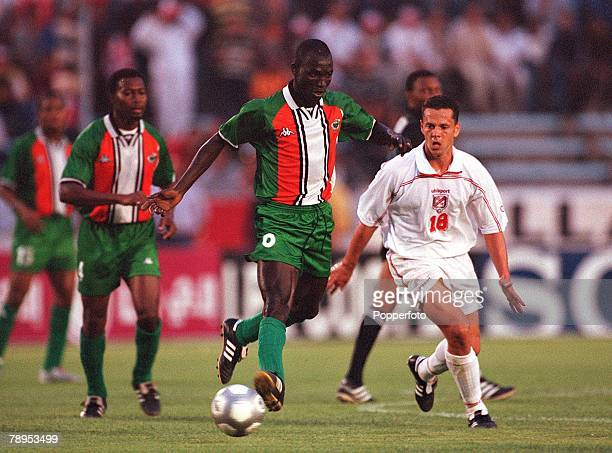 Football 2002 World Cup Qualifier African Second Round Group D 20th May 2001 Tunis Tunisia 1 v Cote d'Ivoire 1 Ibrahima Kone of the Cote d'Ivoire is...