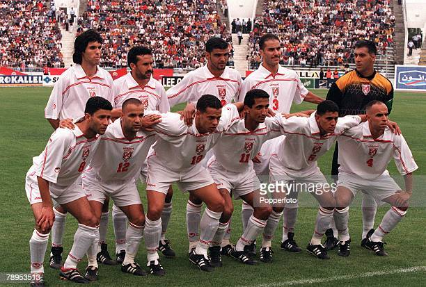 Football 2002 World Cup Qualifier African Second Round Group D 20th May 2001 Tunis Tunisia 1 v Cote d'Ivoire 1 The Tunisia team pose together for a...