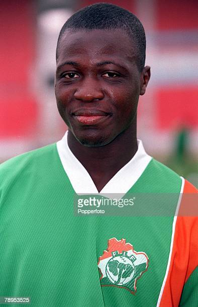 Football 2002 World Cup Qualifier African Second Round Group D 20th May 2001 Tunis Tunisia 1 v Cote d'Ivoire 1 Bi Gaman Youan of the Cote d'Ivoire