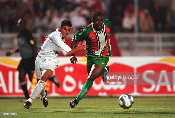 Football 2002 World Cup Qualifier African Second Round Group D 20th May 2001 Tunis Tunisia 1 v Cote d'Ivoire 1 Tunisia's Ziad Jaziri battles for the...