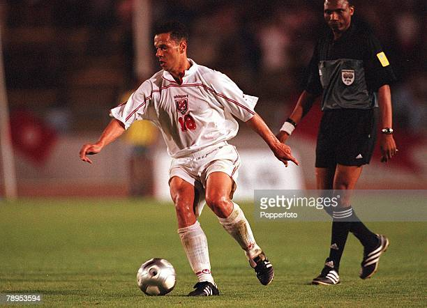 Football 2002 World Cup Qualifier African Second Round Group D 20th May 2001 Tunis Tunisia 1 v Cote d'Ivoire 1 Tunisia's Maher Kanzari