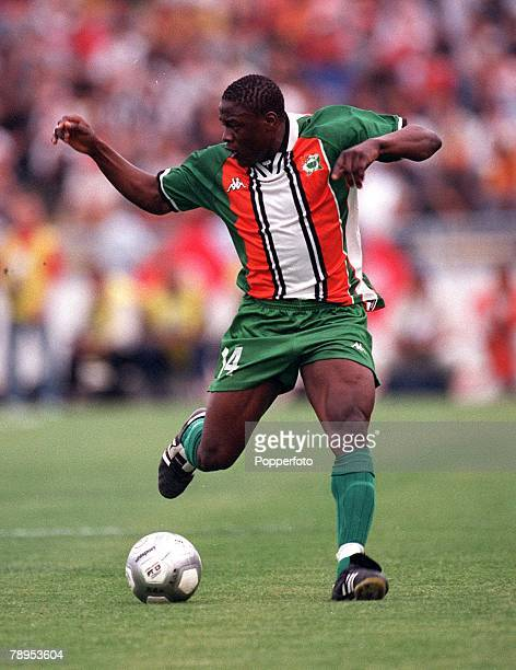 Football 2002 World Cup Qualifier African Second Round Group D 20th May 2001 Tunis Tunisia 1 v Cote d'Ivoire 1 Aruna Dindane of the Cote d'Ivoire