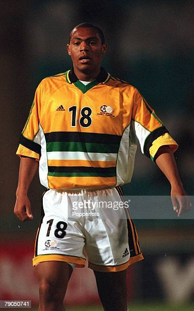 Football 2002 World Cup Qualifier African Second Round Group E 5th May 2001 Johannesburg South Africa 2 v Zimbabwe 1 South Africa's Bradley August