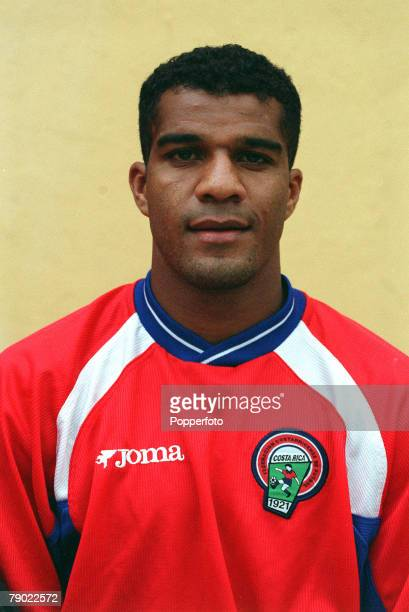 Football 2002 World Cup Qualifier CONCACAF 7th October 2001 San Jose Costa Rica 0 v Mexico 0 Costa Rica's Steven Bryce