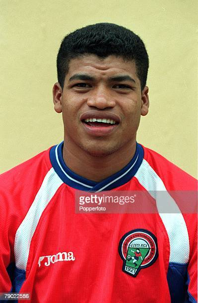 Football 2002 World Cup Qualifier CONCACAF 7th October 2001 San Jose Costa Rica 0 v Mexico 0 Costa Rica's Ronald Gomez