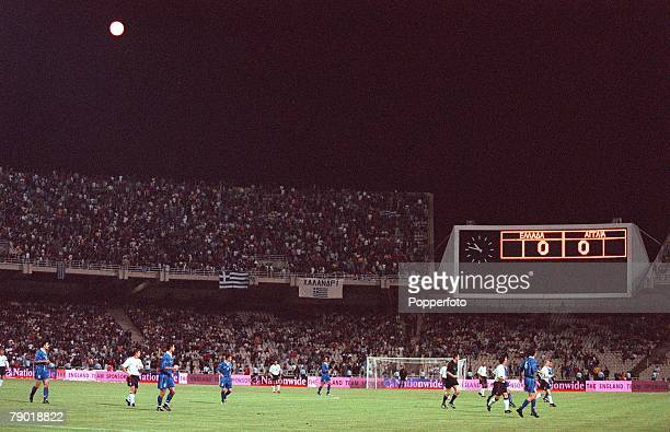 Football 2002 World Cup Qualifier Group 9 6th June 2001 Athens Greece 0 v England 2 A general view of the match in progress at the Olympic Stadium...