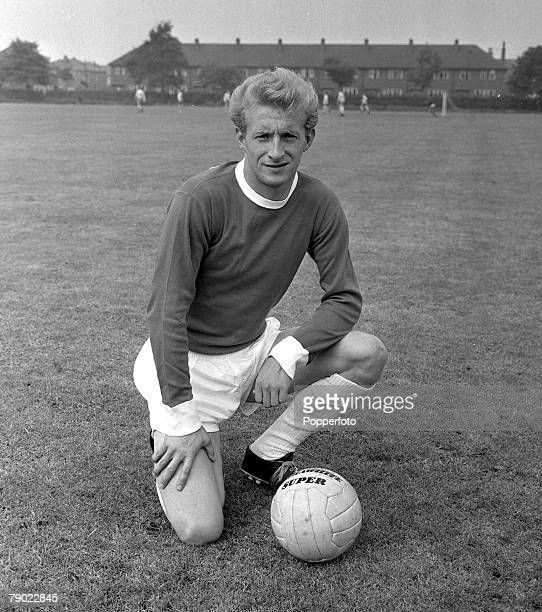 Football 27th May 1962 Manchester England Manchester United PreSeason Photocall A picture of Manchester Uniteds new signing Denis Law