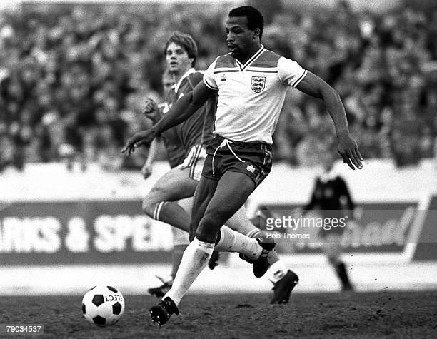 Football 2nd June 1982 Friendly International Iceland 1 v England B 1 England's Cyrille Regis