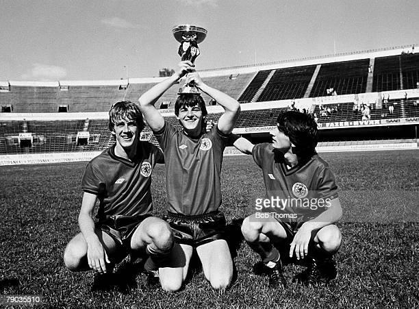 Football 30th May 1982 Helsinki Finland UEFA Youth Cup Final Scotland 3 v Czechoslovakia 1 Scottish goalscorers Gary Mackay John Philliben and Pat...