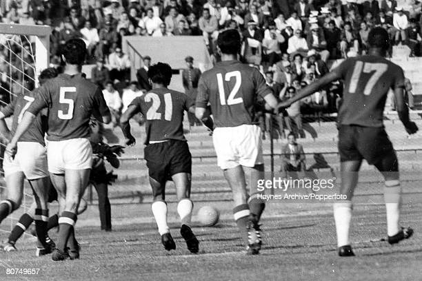 Football 3rd June 1962 Arica Chile World Cup Finals Group 4 Colombia 4 v Soviet Union 4 Action during the match